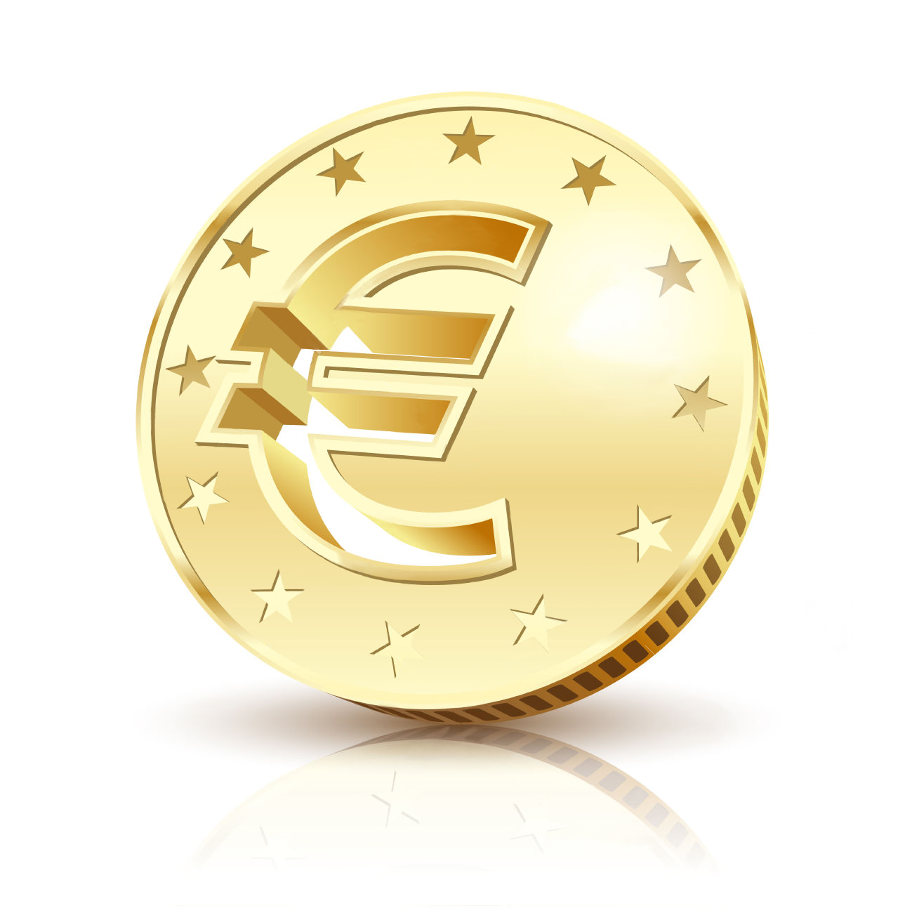 coin golden euro